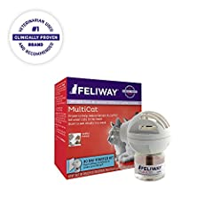 "Are your cats fighting or showing tension in your household? FELIWAY products are a clinically proven, drug free solution to help alleviate many of the unwanted behaviors cat owners deal with. FELIWAY MultiCat sends ""harmony messages"" to cats..."
