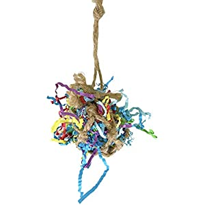 Bonka Bird Toys 1396 Tiny Bonka Shredder Ball Bird Toy Foraging Cage Birds Parrot Cockatiel Cages Parakeet Shredders Food Chew Conures 37