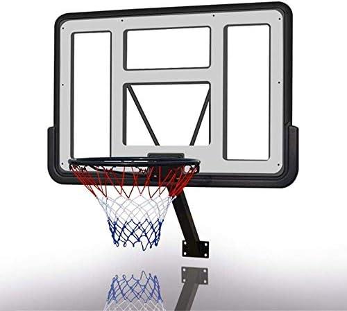 MGIZLJJバスケットゴール バスケットボールウォールマウントボード、バスケットボールフープをぶら下げ、ティーン大人壁掛けバスケットボールボードセット、あなたは誰の愛バスケットボール(110x75cm)のためのグレート