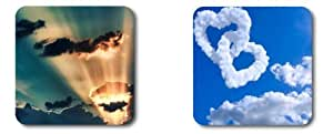 Beautiful cloud POP Coasters Customized by Cases & Mousepads Two coasters are $9.3 by ruishername