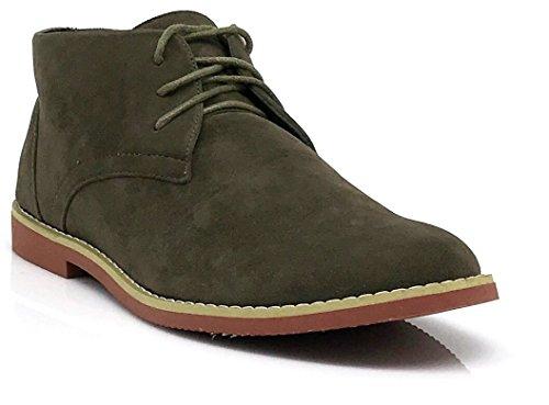 Alberto Fellini Menn Klassiske Chukka Ørken Oxfords Støvler (dkt) Oliven