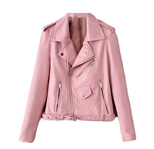 aicessess Mujer para women claro rosa Chaqueta clothes pqwx8nrUp