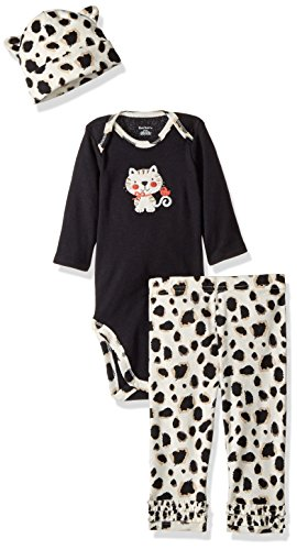 Gerber Baby 3 Piece Bodysuit, Cap and Legging Set, kitty, Newborn