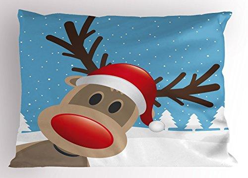 Outdoor Reindeer Lights Red Nose in US - 7