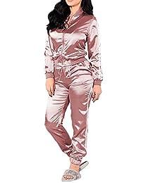 Meimeioo Women's Tracksuit 2 Piece Outfits Jacket and Pants Sweatsuits Sportwear