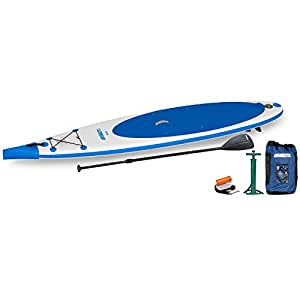 Sea Eagle Paddle Board Needle Nose 126 SUP Start UP Package, White/Blue