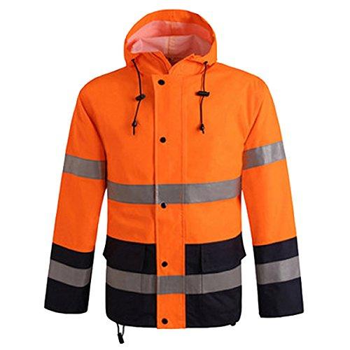 Men Safety Depot Safety Jacket Class 3 ANSI Approved Construction Work Wear 360° Hi VIS Reflective For Men (Tag XXL=US XXL) -