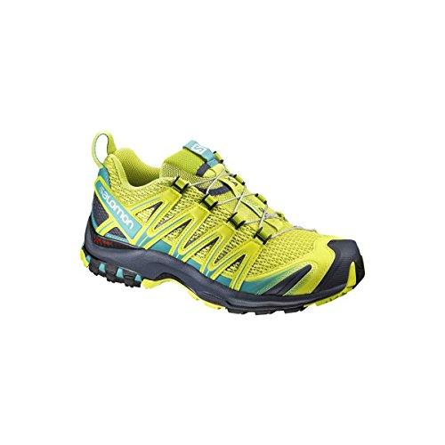 Salomon Xa Pro 3D W, Zapatillas de Trail Running para Mujer, Verde (Sulphur Spring/Ceramic/Ombre Blue), 36 EU