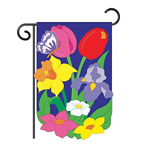 (Breeze Decor Two Group G154055-P2 Floral Mix Spring Applique Decorative Vertical 13