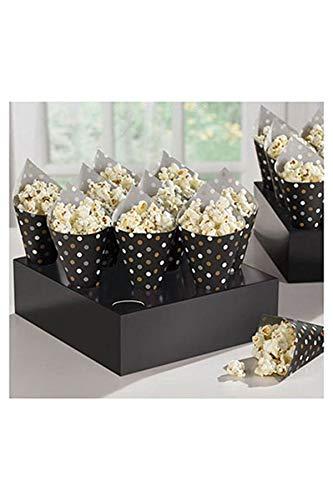 Amscam 149400 Mini Paper Snack Cones w/Tray 7
