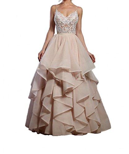 Kleider Festlichkleider mia Spitze Braut Brautkleider Standsamt Rosa Rosa Linie La A Neu Brautmode Hochzeitskleider pCqvZZH4