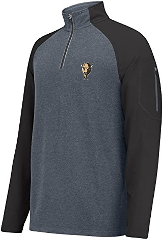 J. America Męskie 1/4 Zip Sweater Alpha, Viertelreißverschluss, Anthrazit/Schwarz, X-Large: Odzież