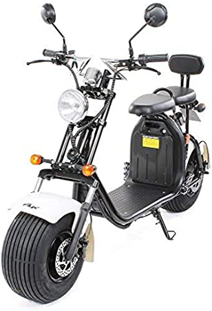 PEQUENENES Patinete Scooter EFLUX Harley 1500 W 60 V 20AH BATERIA Ion Litio (Negro)