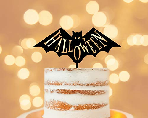 Halloween Cake Topper, Flying Naughty Bat Wings,Party Event Favors -