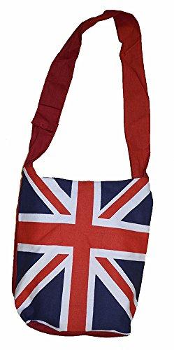 Union de KGM Jack Cool Accessories Bandera hombro de Bolsa azul British algodón wxxqZIn1zS
