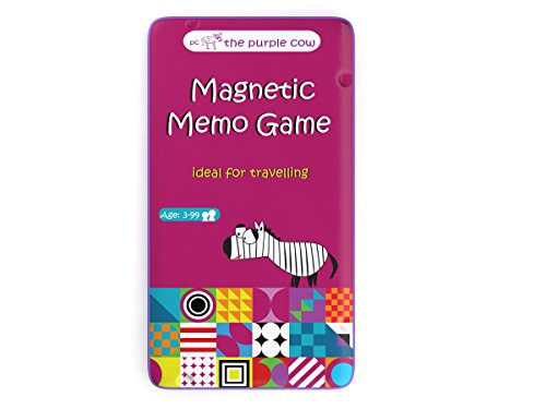 The Purple Cow Magnetic Travel to Go Memo Game, ()