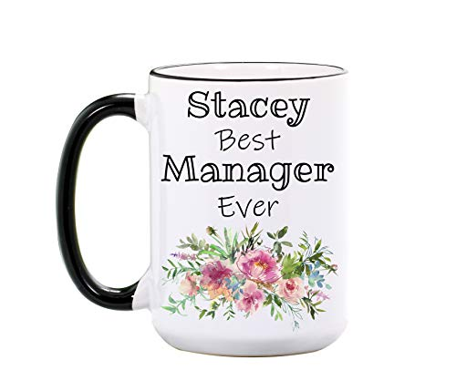 Manager Mug - Personalized Large 15 oz or 11 oz Ceramic Cup - Manager Gifts for Managers - Boss Coffee Mugs - Bosses Gift - Dishwasher & Microwave Safe - Made In USA