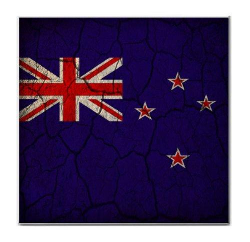 New Zealand Flag Crackled Design Tile Trivet