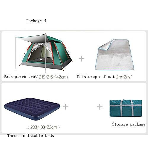該当する店員発疹QFFL zhangpeng テント屋外テントパッケージ自動屋外テント3-4厚い防水テント野生のキャンプテント8色オプション トンネルテント ( 色 : 1# )