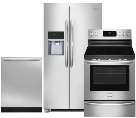 Frigidaire Gallery 3-Piece Smudge-Proof Stainless Steel Kitchen Package with FGHC2331PF 36