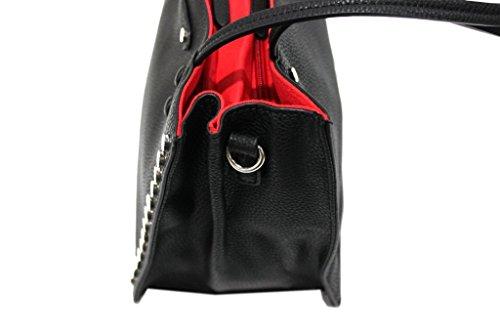 Borsa Donna Linea Borchie Modello Shopping Piccola Lookat Y1372 Nero