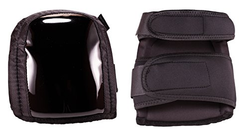 Heavy Duty Knee Pads- Multi-Surface- Extra Thick Comfort Foam with Gel Inserts- Soft Cap with Tear and Abrasive Resistant Material- Adjustable Size Straps- Black- One Pair