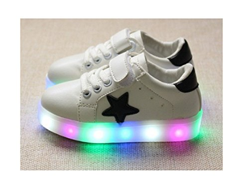 Children Shoes LED Light Kids Shoes with light Baby Boys Girls Lighting Sneakers Casual Children Sneakers (5.5, White)