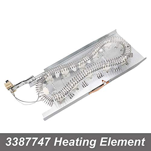 KONDUONE 3387747 Heating Element for Whirlpool Maytag Kenmore Dryer Heating Element 5400W 240V -Replaces 8527865 WP3387747 W11045584 PS11741416 Dryer Heater Element