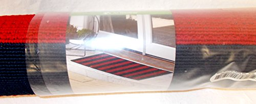 Kohls Department Store Sonoma Red Blue Cabana Stripe Indoor Outdoor All Weather Runner Rug 22In X 59In Nip