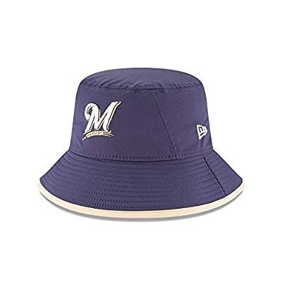 New Era Milwaukee Brewers MLB Bucket One Size Fits Most Cap Hat (One Size)