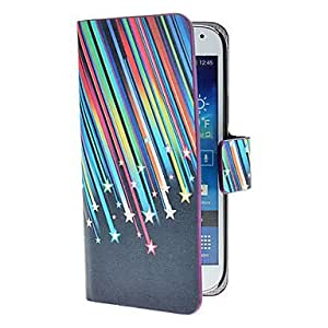 Meteor Shower Pattern PU Leather Case with Stand and Card Slot for Samsung Galaxy S4 mini I9190