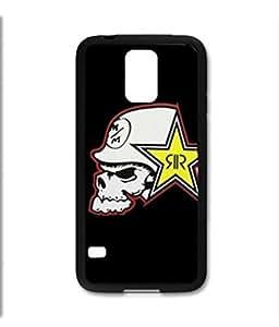 Samsung Galaxy S5 SV Black Rubber Silicone Case - Rock Star Metal Mulisha Skull FMX