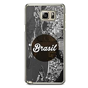 Brazil Samsung Note 5 Transparent Edge Case - Cities