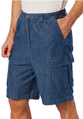 8 Pocket Denim Cargo Shorts - KingSize Men's Big & Tall Knockarounds 8