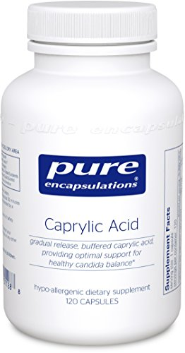 Pure Encapsulations - Caprylic Acid - Gradual Release, Buffered Caprylic Acid, Providing Optimal Support for Healthy Microbial Balance* - 120 Capsules (Capsules 120 Balance)