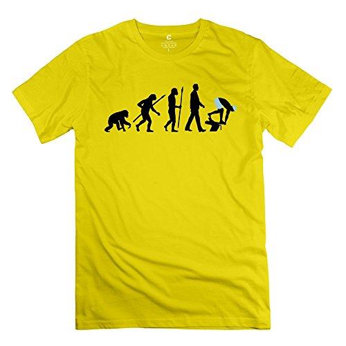 WXMY Men's 100% Cotton Evolution Running T-shirt L
