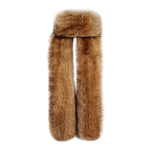 Londony ♥ Clearance Sale! Women Winter Super Warm Faux Fox Raccoon Fur Collar Stole Long Scarf -