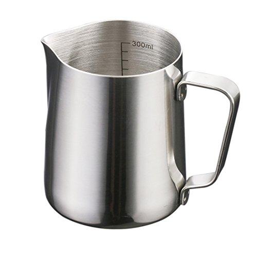 metal milk steaming pitcher - 9