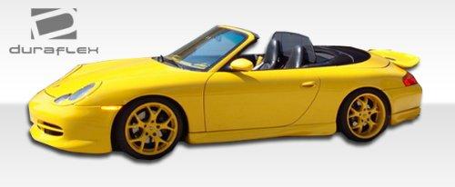 Duraflex Replacement for 1999-2001 Porsche 911 Carrera 996 GT-3 Look Rear Add On Bumper Extensions 2 Piece non turbo