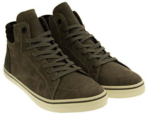 S.Oliver Womens 25208 Suede Effect High-top Trainer Boots Grey rayCM9y
