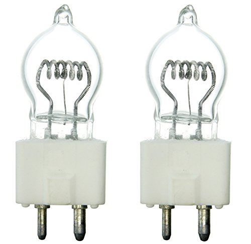 Sunlite DYS 600W/G7/120V/CL/GZ9.5 600-watt 120-volt Bi-Pin Based Stage and Studio G7 Light Bulb, Clear (2 Pack)