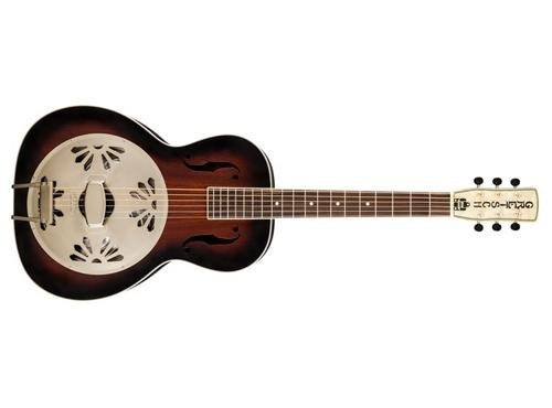 Gretsch G9240 Alligator Mahogany Round Neck Resonator - 2-color Sunburst, Padauk Fingerb