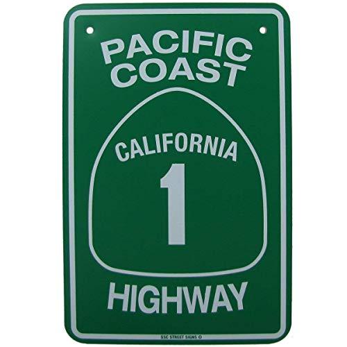- Jacksoney Tin Sign New Aluminum California Highway Ca HWY Road Street Traffic Sign Metal Sign 11.8 x 7.8 Inch