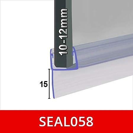 Fin008 90/cm forme droite doux H fin Joint de douche pour les /écrans portes ou Panneaux Compatible avec 8/mm en verre 140/cm ou 2/m de long joints des espaces jusqu/à 25/mm 25