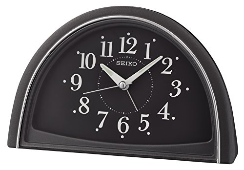 Seiko Analogue Beep Alarm Clock, Black, 11.8 x 8.5 x 18.5 cm