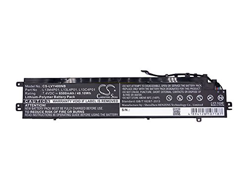 Cameron Sino 6500mAh / 48.10Wh Li-Polymer High-Capacity Replacement Batteries for Lenovo Erazer Y40 , fits Lenovo L13C4P01, L13L4P01 by Cameron Sino (Image #5)