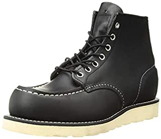 "Red Wing Shoes Men's 6"" Classic Moc Boot,Black ,8.5 D(M) US (B002K9Q1T8) 