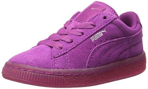 Classics Viola (PUMA Suede Classic Iced Kids Sneaker (Infant/Toddler/Little Kid) , Vivid Viola/Puma Silver, 11 M US Little Kid)