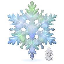Hallmark Keepsake Christmas Tree Topper 2018 Year Dated, Stunning Snowflake With Music and Light