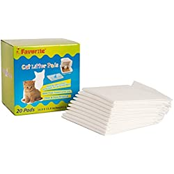 Favorite Anti Microbial Odor Control Disposal Cat Litter Box Liner Pad 16.9' x 11.4'